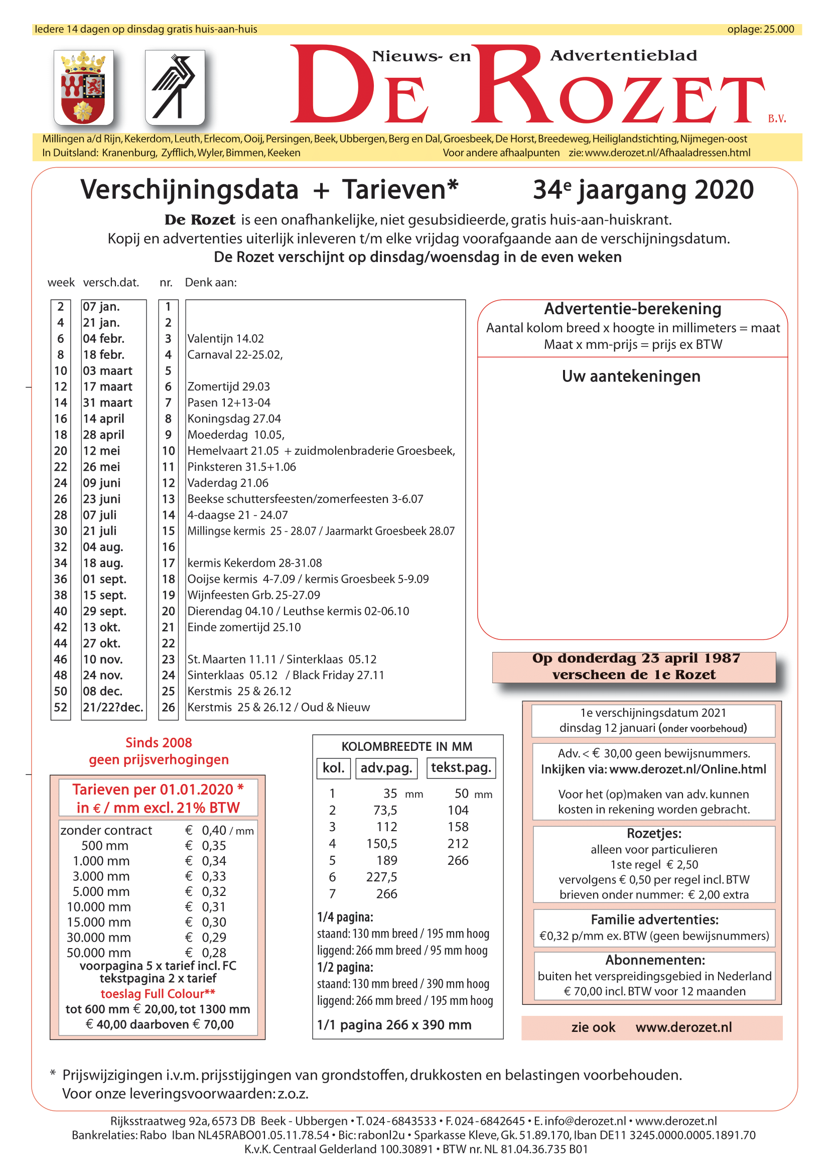 rozet-verschijningsdata-tarieven-2020-1